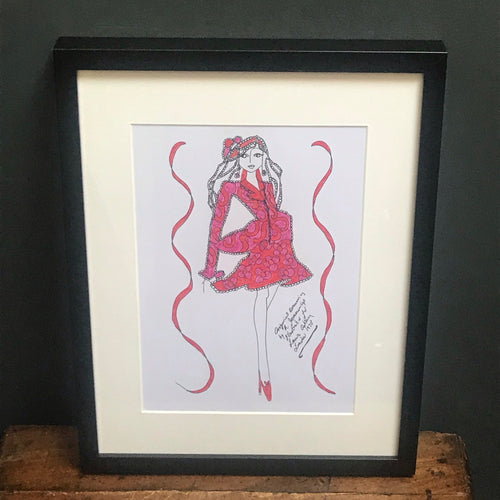 NEW - Roz Jennings Original Fashion Illustration for Laura Ashley