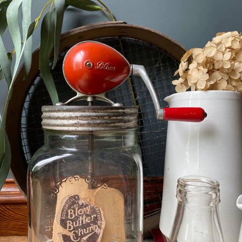 NEW - Vintage Blow Butter Churn