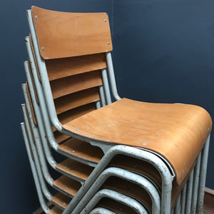 Vintage Industrial Stacking School Chair