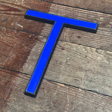 SOLD - Original 1920's Brass & Enamel 'T' Letter
