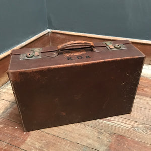 SOLD - Vintage Leather Suitcase