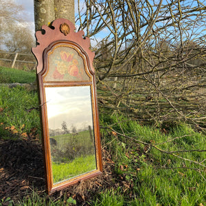 NEW - Vintage Pier Glass Mirror with Painted Panel