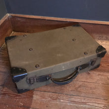 Vintage Canvas & Leather Suitcase photo 2 | PamPicks