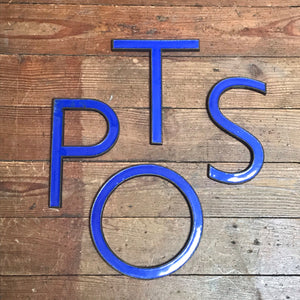NEW - Original 1920's Brass & Enamel 'T' Letter
