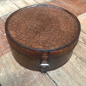 SOLD - Edwardian Croc Leather Collar Box
