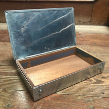 SOLD - Vintage Alloy Cigars, wood lined, Tin
