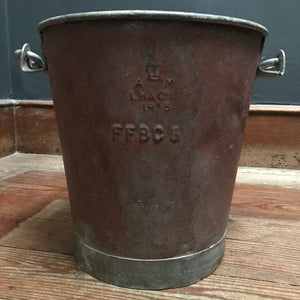 SOLD - Vintage Metal Fire Bucket