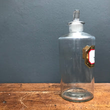 SOLD - Vintage Chemist/Apothecary Glass Bottle