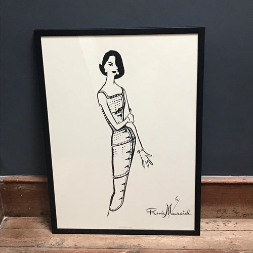 NEW - French Fashion Print of lady in evening dress, by Renee Marciel