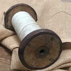 SOLD - Antique Wooden Industrial Textile Bobbin Spool