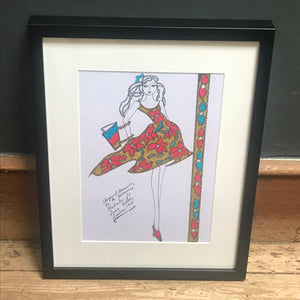 Roz Jennings Original Fashion Illustration for Laura Ashley