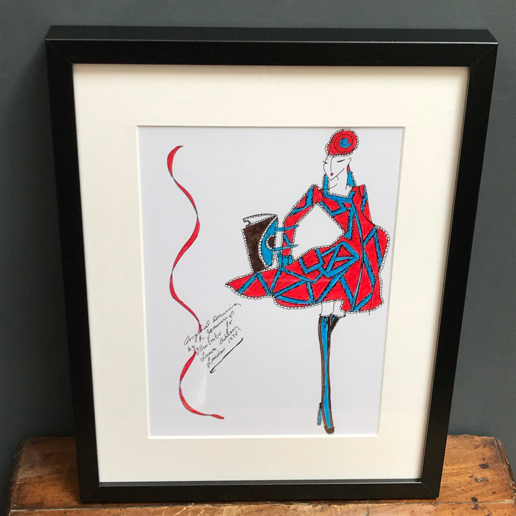 SOLD - Original Fashion Illustration for Laura Ashley
