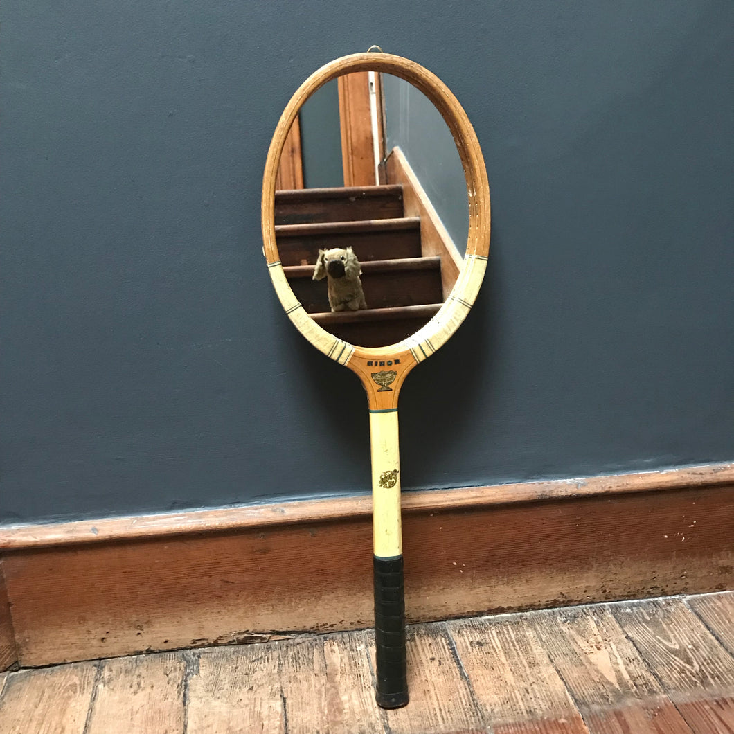 SOLD - Vintage Tennis Racket Mirror