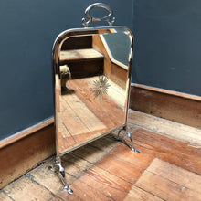 SOLD - Art Deco cut glass Mirrored Fire Screen