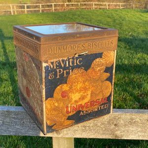 NEW - Rare Dunmore's, Edinburgh Biscuit Tin with original glass lid