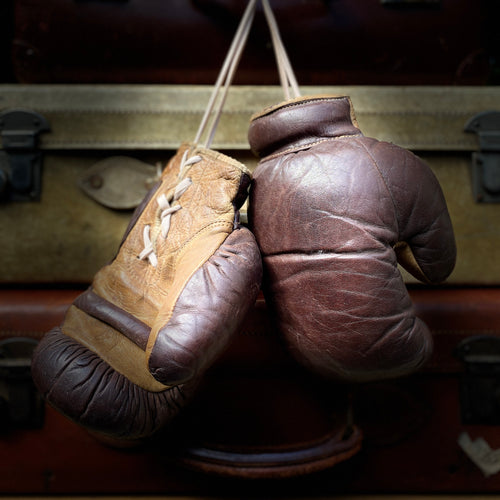 NEW - Pair of Vintage Leather Boxing Gloves