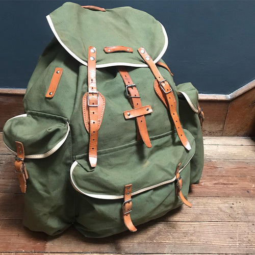 NEW - Vintage Canvas Rucksack Bag