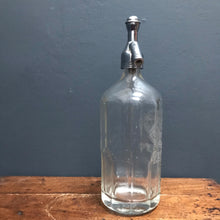 "SOLD - Vintage Etched Glass ""Sangs Aberdeen"" Soda Syphon"