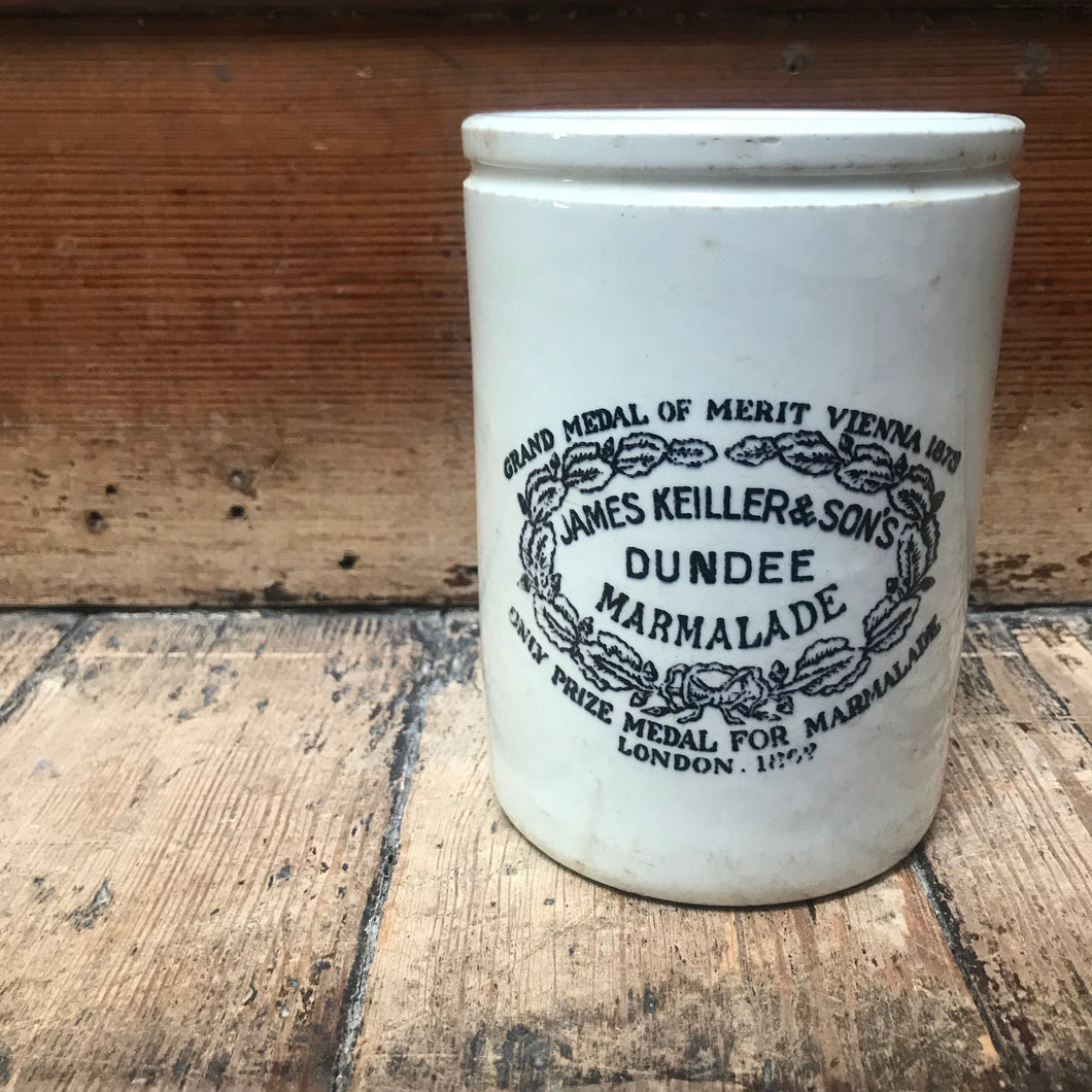 SOLD - Vintage James Keiller & Sons Marmalade Jar