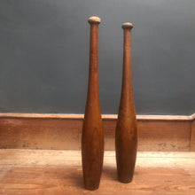 SOLD - Tall Set of Vintage Wooden Exercise Clubs