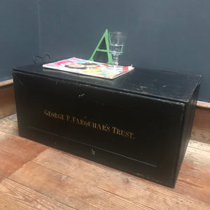 SOLD - Metal Deed Box - George P. Farquhar's Trust