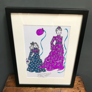 SOLD- Roz Jennings Original Fashion Illustration for Laura Ashley