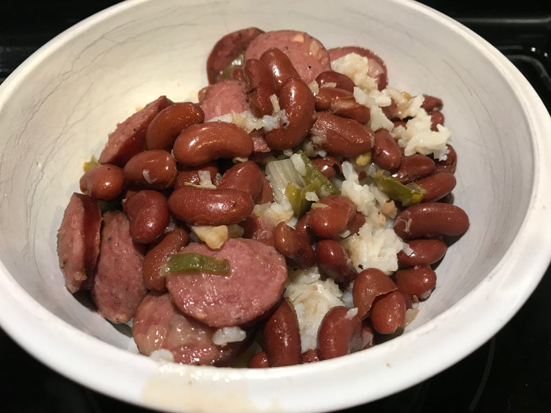 Texas inspired Red Beans, Sausage, and Rice