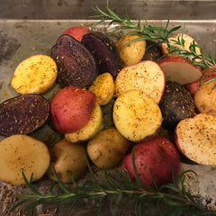 Potatoes seasoned with Zest Coast Savory Blast