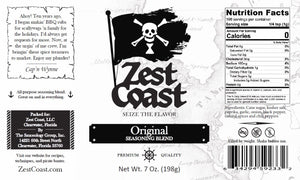 Zest Coast Original Seasoning Blend