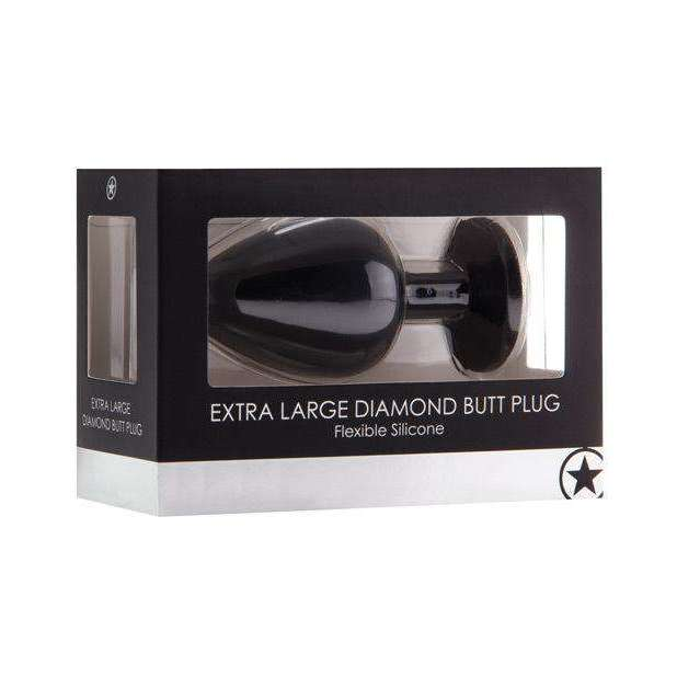 Shots Ouch Extra Large Diamond Buttplug - Black,Butt plugs,Top Sex Store