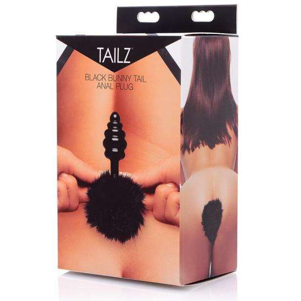 Tailz Black Bunny Tail Anal Plug,Butt plugs,Top Sex Store