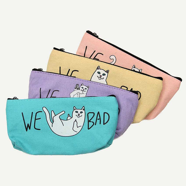 Cat Fabric Pencil Case