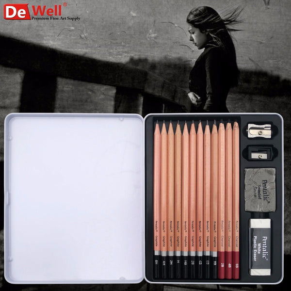 Graphite Pencil Set with Extra Tools