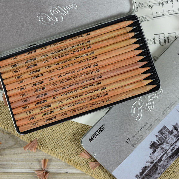Marco Raffino Sketching Pencils 12 Shades