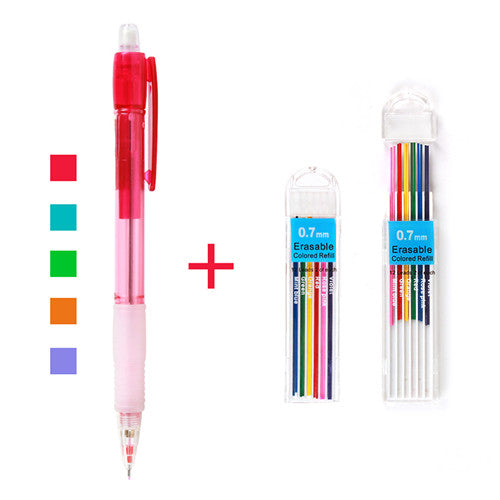 Super Grip 0.7mm Mechanical Pencil + Color Refills
