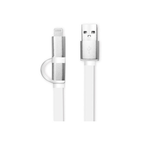 Cable USB 2 en 1 Lightning y MicroUSB