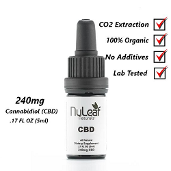 NuLeaf 240mg Full Spectrum CBD Oil, High Grade Hemp Extract (50mg/ml)