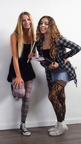 Kixies thigh highs, back to school outfits