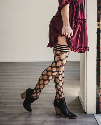 thigh highs with dresses