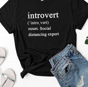 Introvert -social distancing T-shirt