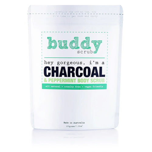 BUDDYSCRUB Activated Charcoal Body Scrub