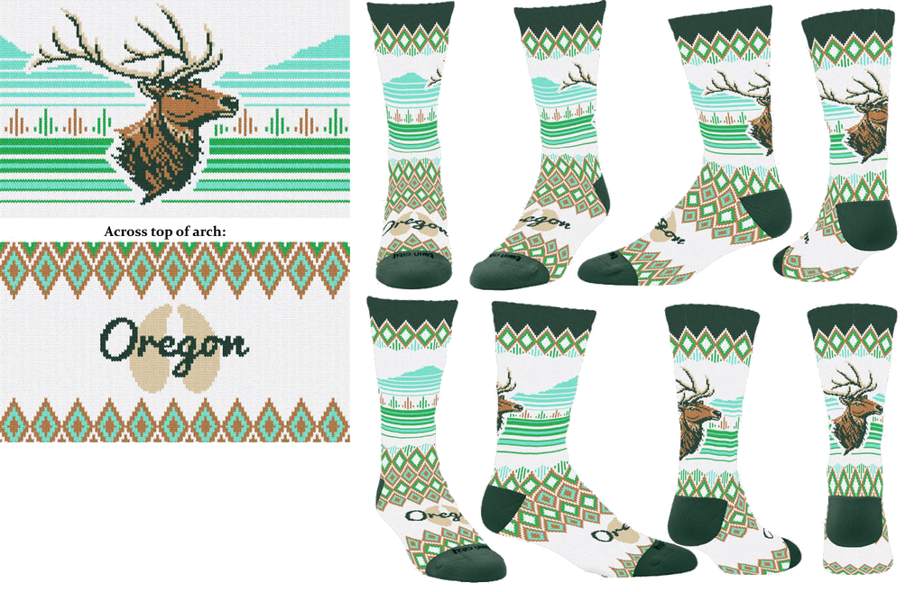 Oregon Elk Sock