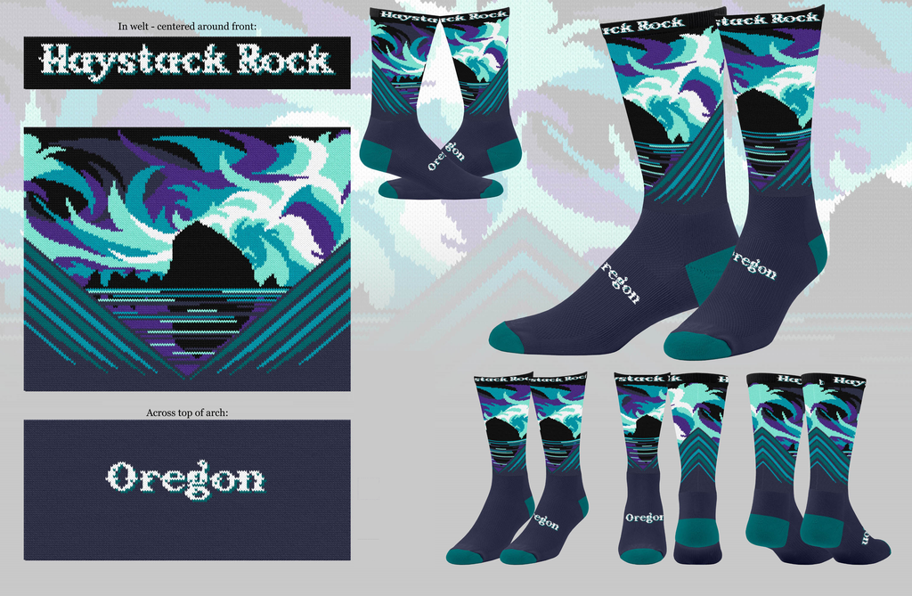 Haystack Rock Sock, Cannon Beach, OR