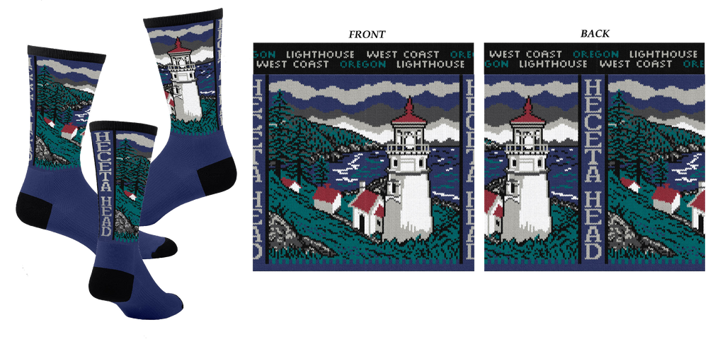 Heceta Head Lighthouse Sock