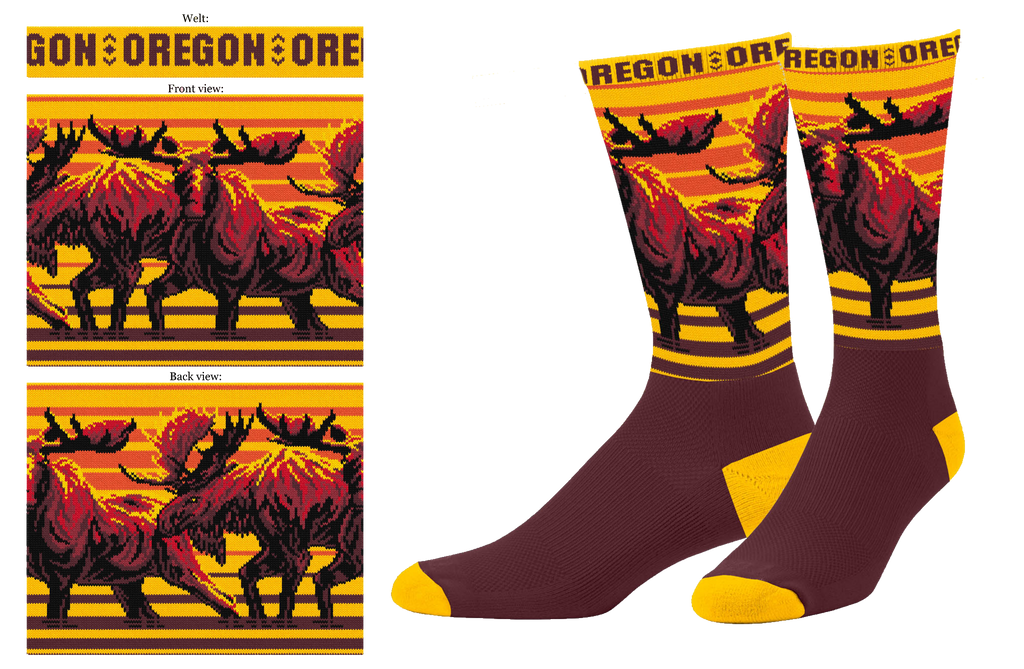 Oregon Moose Sock