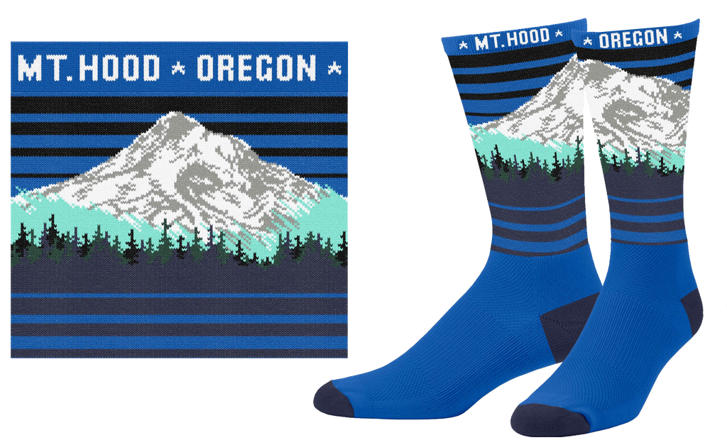 Mt. Hood Oregon Sock