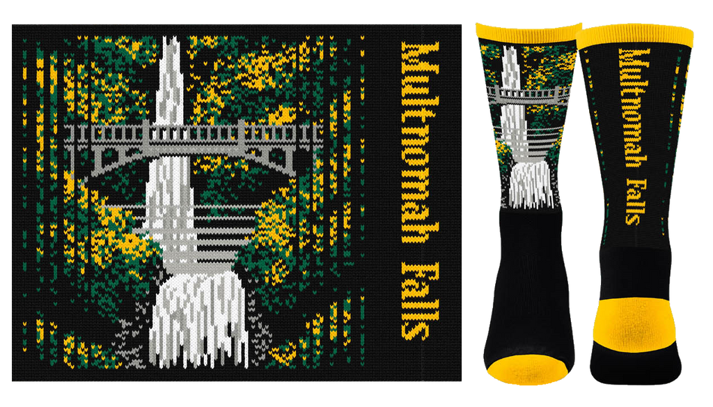 Multnomah Falls Sock