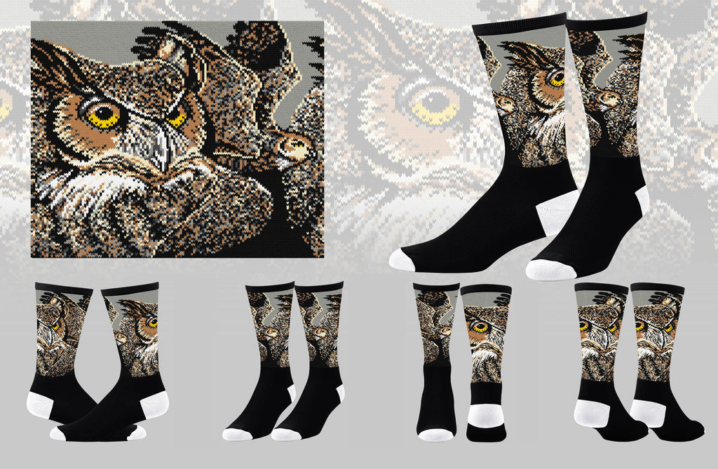 Great Horned Owl Sock
