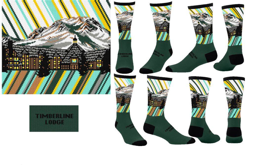 Timberline Lodge Sock - Summer