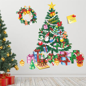 Christmas Tree Gift Wall Stickers
